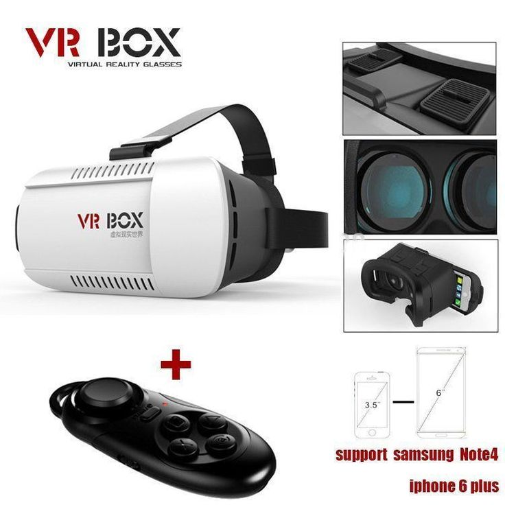 Google cardboard VR-BOX Virtual Reality 3D Glasses +Bluetooth Control #Unbranded