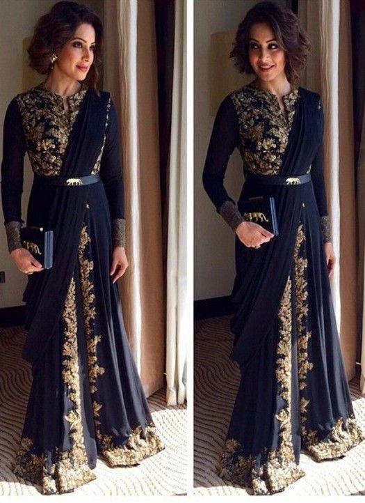 Bipasha Basu Blue Georgette Designer Anarkali Suit