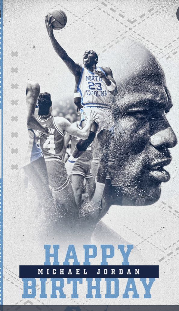 Pin By Ronnie Pollock On Unc Basketball Happy Birthday Design Happy Birthday Basketball Happy Birthday Typography