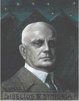 Jean Sibelius, portrait by Sigurd Wettenhovi-Aspa