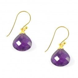 Pomegranate Amethyst Pear Drop Earrings