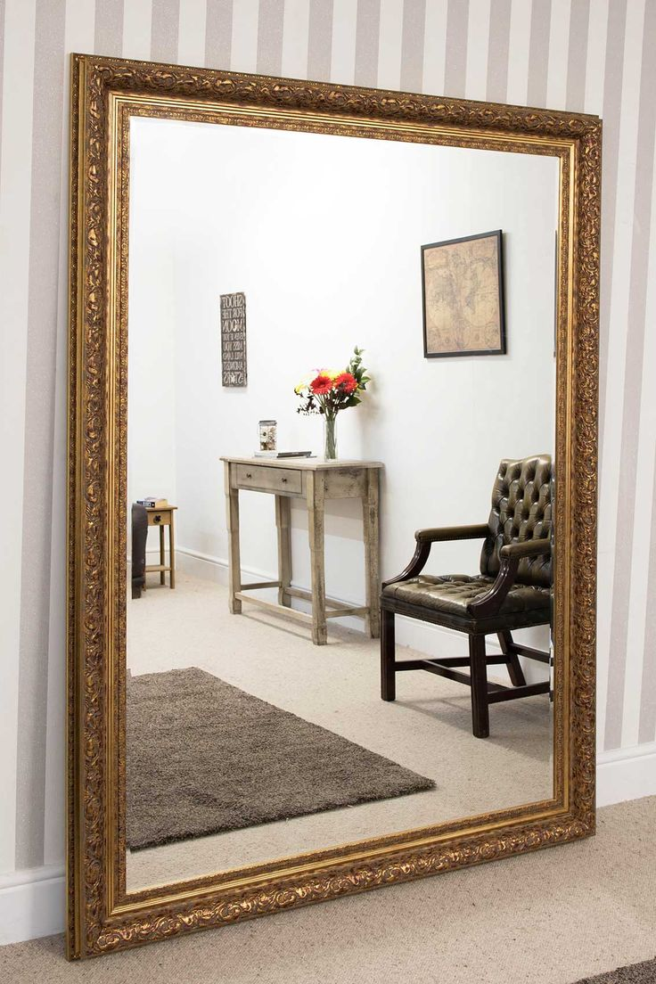 Devonshire Large Gold Framed Mirror 215x154cm - Soraya Interiors UK
