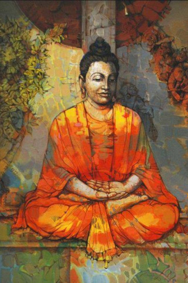 95 best lord buddha images on pinterest buddhism for Buddha mural paintings