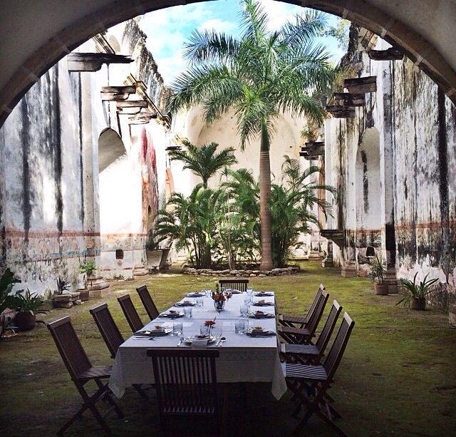 The ruins of a church in Hacienda, Yucatan Mexico
