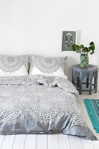 Gossamer Double Duvet Cover in Grey by: Urban Outfitters