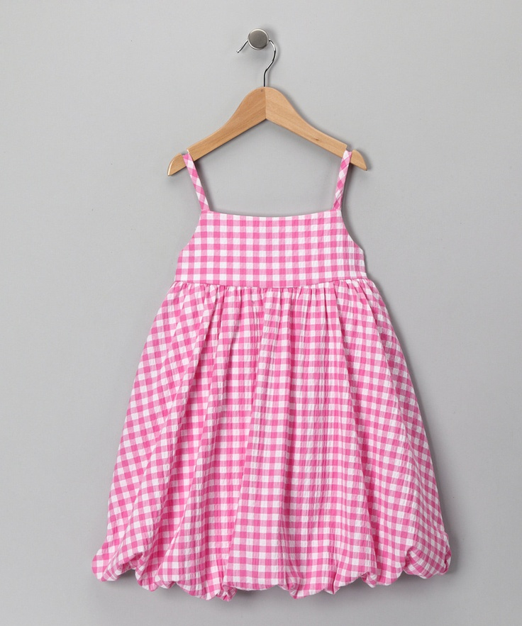 Pink Gingham Bubble Dress - Toddler & Girls