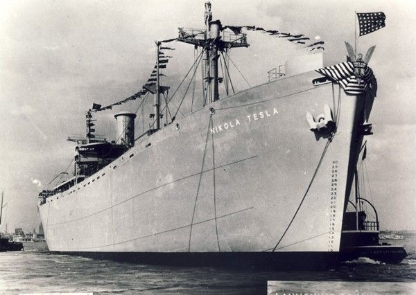 Nikola Tesla, USA ship of the Liberty series, built in Baltimore in 1943 on the occasion of the death of Nikola Tesla.