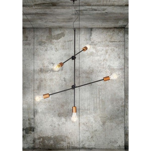 Lampa wisząca loftowa z żarówkami / Hanging loft lamp with light bulbs.