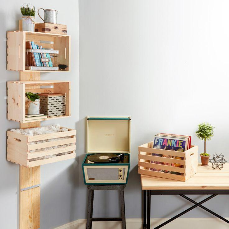 einfaches Holzkisten-Regal-Projekt   – Organization