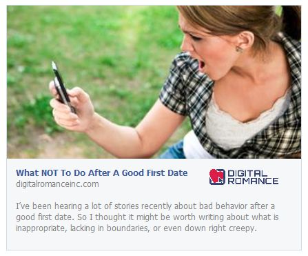What NOT To Do After A Good First Date by Donna Barnes