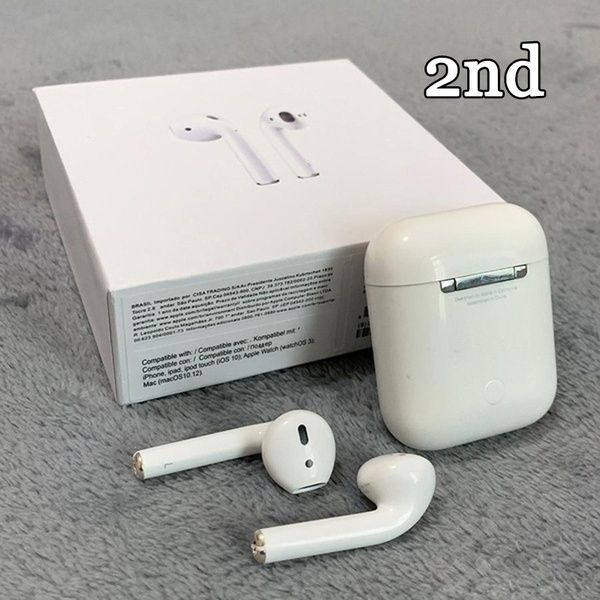 Refurbished Apple 2nd Generation Mmef2am A Air Pods Wireless Bluetooth Earphones With Wireless Chargi Bluetooth Earphones Bluetooth Earbuds Wireless Headphones