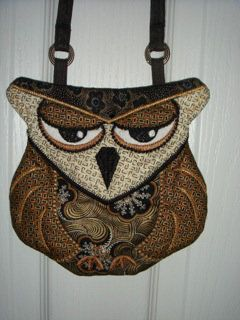 Stunning colors! ITH Patchwork Owl Purse