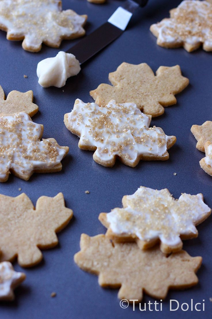 Frosted Maple Leaf Cookies | Tutti Dolci