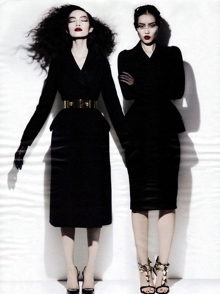 Fei Fei Sun & Liu Wen by Michael Thompson for W November 2012