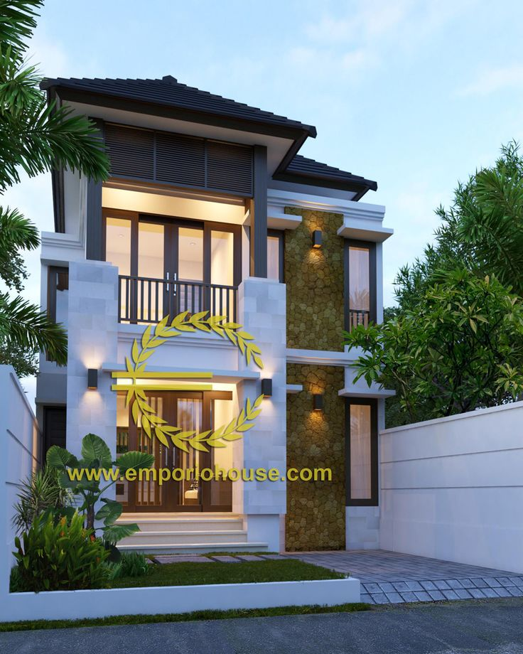 Desain Rumah 2 Lantai 4 kamar Lebar Tanah 7 meter dengan