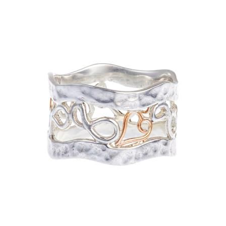 ACHICA | Banyan Gold Wire Heart Banded Ring, Choose Size