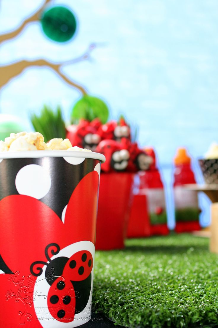 Ladybug Dessert Table #Ladybug #1stBirthday