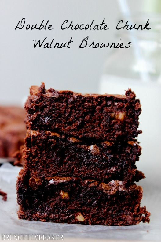 Double Chocolate Chunk Walnut Brownies