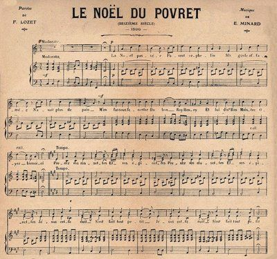 Christmas Sheet Music - French - The Graphics Fairy