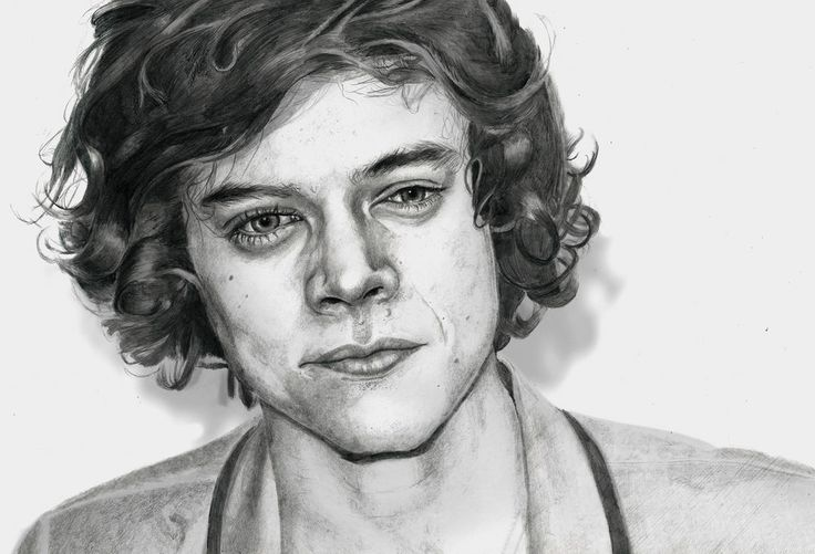 Harry Styles from One Direction Fine Art Drawing Limited Edition Print