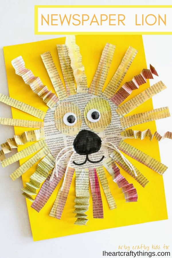 Art N Craft Ideas Kidscrafts Auntie Duty Crafts For Kids Lion
