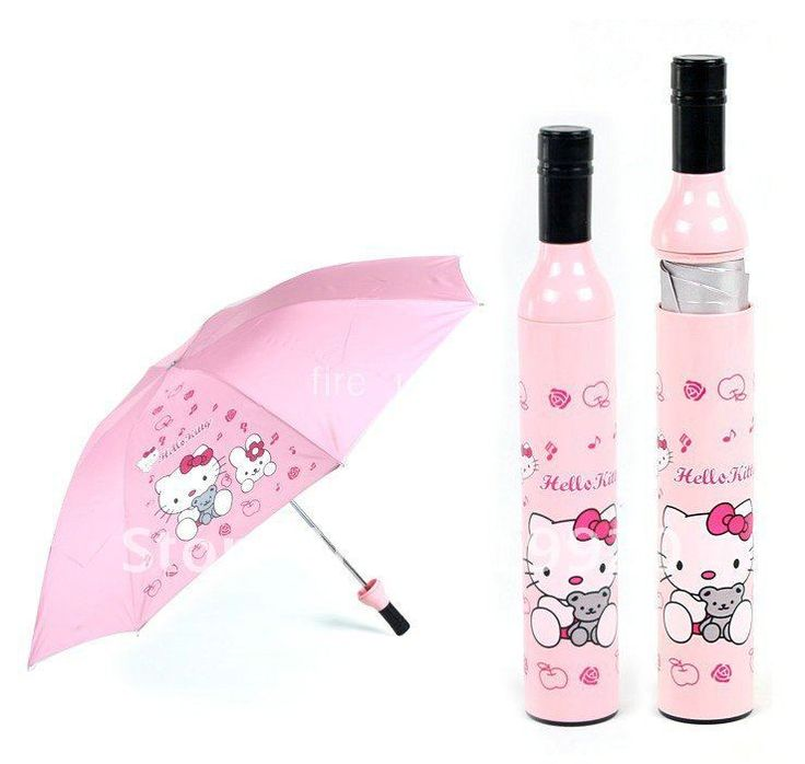 Hello kitty umbrella /Bottle Umbrella Fashion Umbrella   Freeshipping