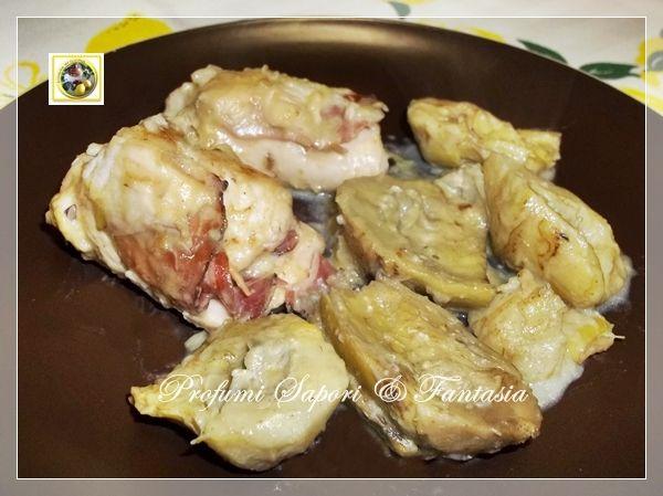 Involtini di pollo ripieni, speck formaggio e carciofi Blog Profumi Sapori & Fantasia