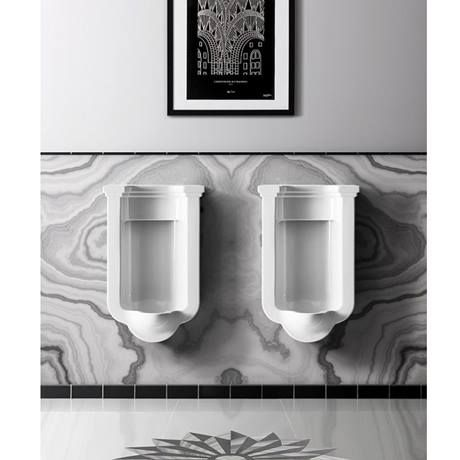 Bauhaus Waldorf Art Deco Wall Hung Urinal Feature Image