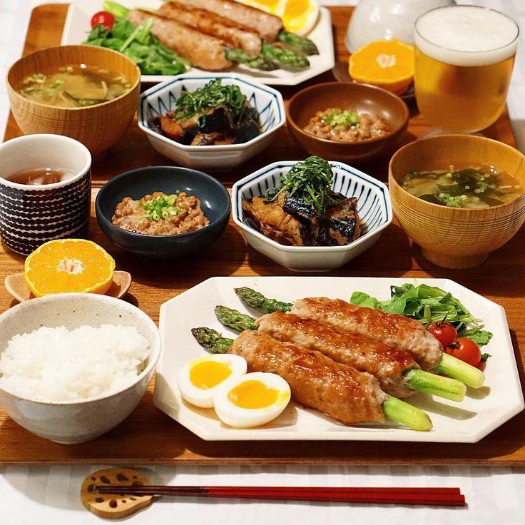 アスパラのつくね巻き 黒鯛の生姜煮 納豆 大根とわかめのみそ汁 みそ汁 . . 昨日はお肉を頂いたのに #今日は、黒鯛を頂きました〜( *´艸`)♡ . 給料日前にありがたや〜(*´ω`*) . . . #おうちごはん #うちごはん#ふたりごはん#晩ごはん#夜ごはん#夕食#夕飯#献立#和食#食卓#料理写真#手料理#スタジオエム#ロカリキッチン#デリスタグラマー#igersjp #器#クッキングラム#dinner #japanesefood #ロカリ#lin_stagrammer#snapdish#イッタラ#マリメッコ#つくね#白山陶器#辻本路