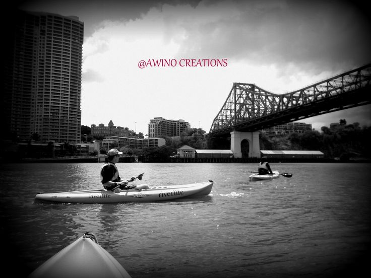 Kayaking on the Brisbane river  with Story Bridge views , Story bridge Brisbane , Brisbane adventures, photography prints by AwinoCreations on Etsy