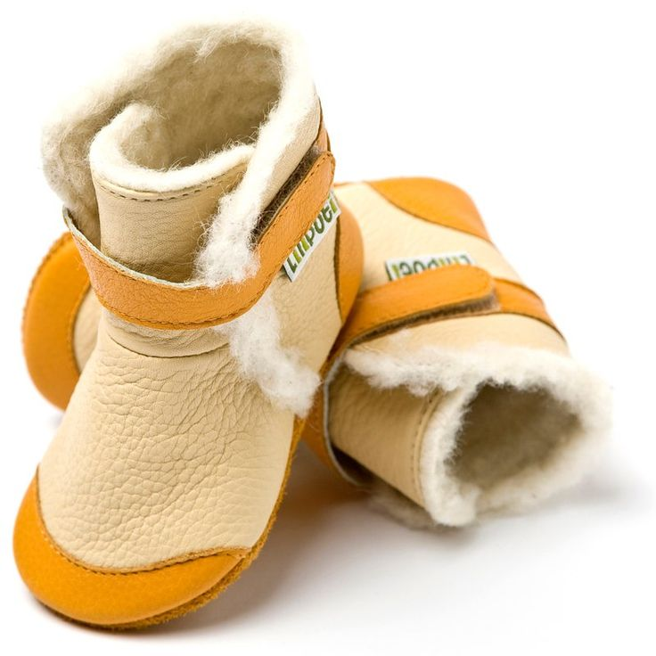 Liliputi® soft soled booties - Alps Beige #softleatherbabyboots #babyboots #winter