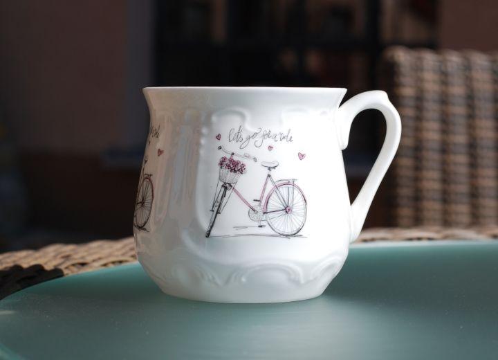 """Kubek śląski """"Różowy rower""""/ Silesian mug """"Pink bike"""""""