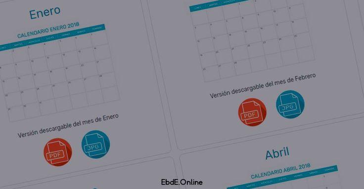 calendarios 2018 gratis apra imprimir https://www.graphicdesigngratis.com/2017/10/calendario-2018-editable-para-imprimir.html