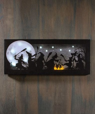 Look what I found on #zulily! Lighted Witches Dance Canvas #zulilyfinds