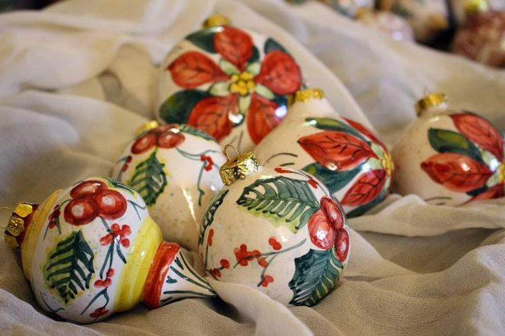 Christmas ornaments. ARTESIA Hand-Made Ceramics