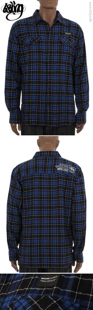 Wrung Division langærmede flannel skovmandsskjorte - køb langærmede skjorter i vores online shop  www.123yo.dk
