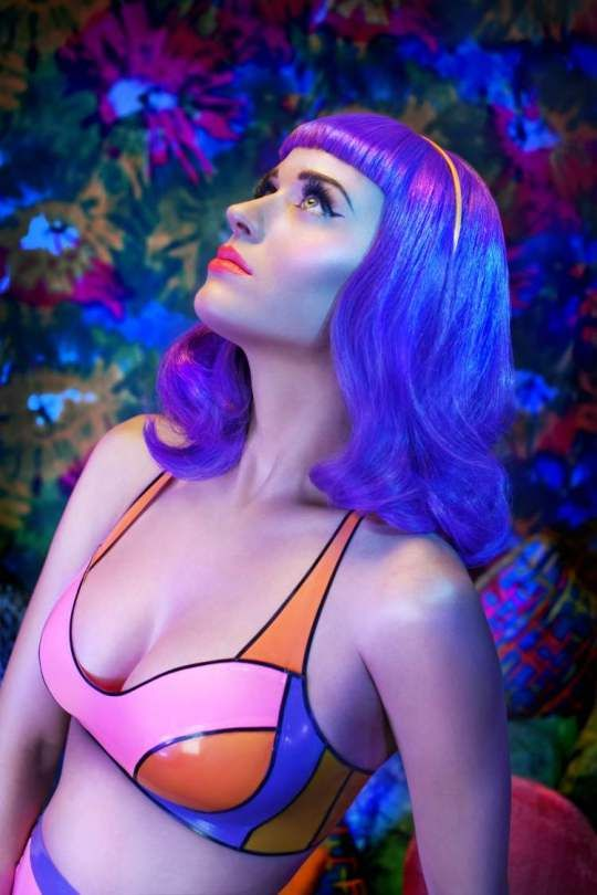 Katy Perry's vibrant Teenage Dreams Promo shoots