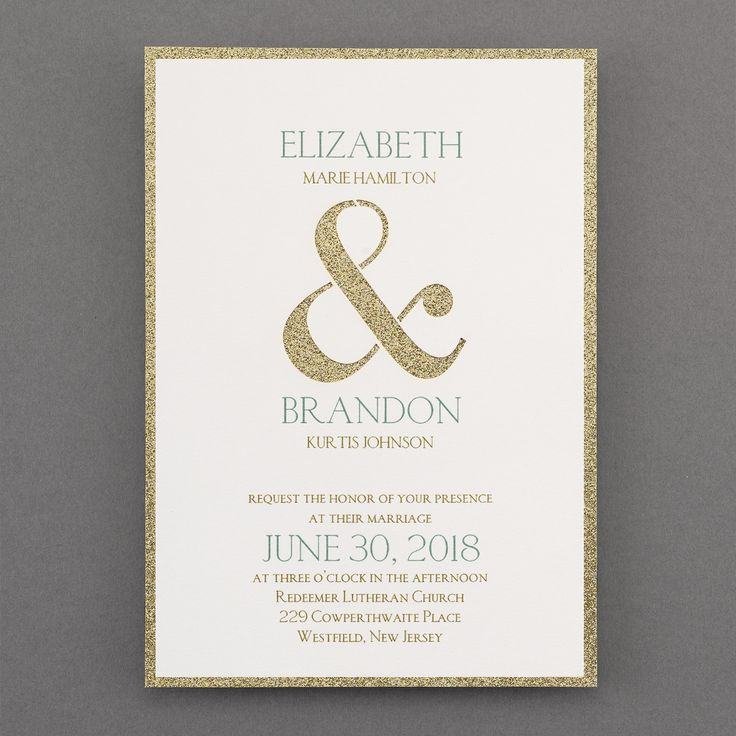 white and gold wedding invitations%0A A  gold  glitter backer shows through  Wedding Invitation