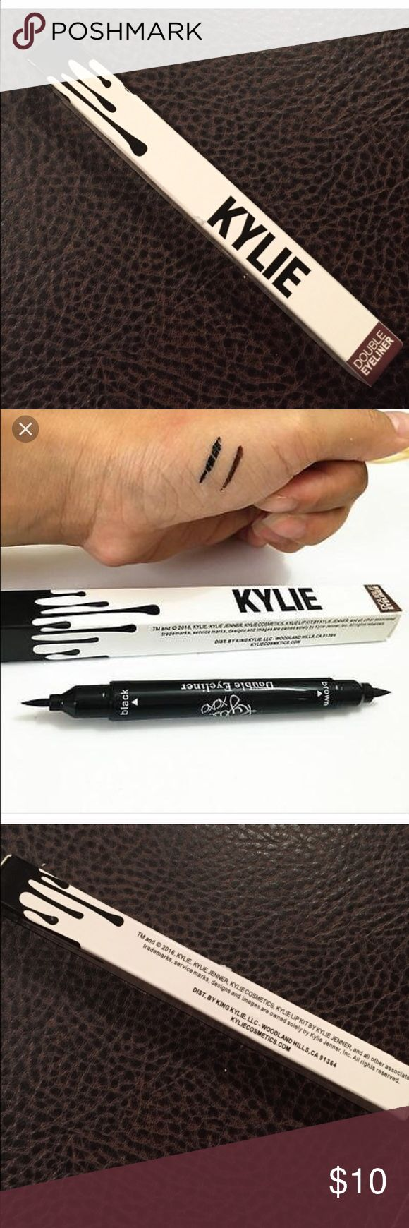 Kylie liquid double eyeliner brand new. Black/brown liquid eyeliner new in box Kylie Cosmetics Makeup Eyeliner