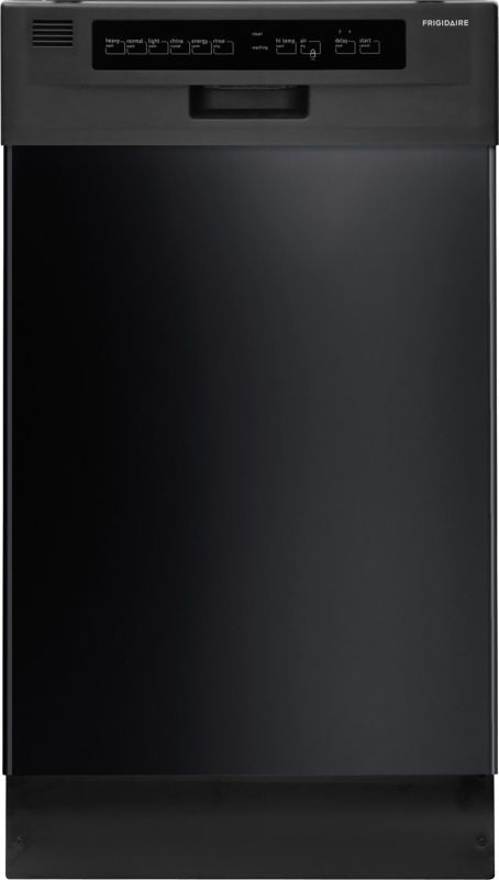 """Frigidaire FFBD1821M 18"""" Built-In Dishwasher with Stainless Steel Interior and D Black Dishwashers Dishwasher Built-In"""