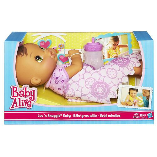 Toys R Us Baby Dolls : Baby alive luv n snuggle doll brunette with blanket