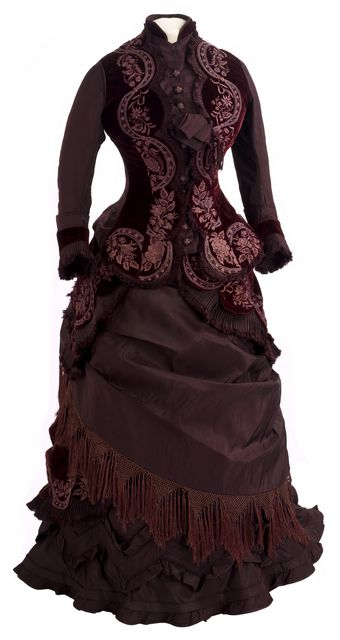 Reception dress, 1877 From the Minnesota Historical Society