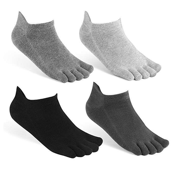 c2678020176cb Amazon.com : meaiguo Toe Socks No Show Running Five Finger Crew ...