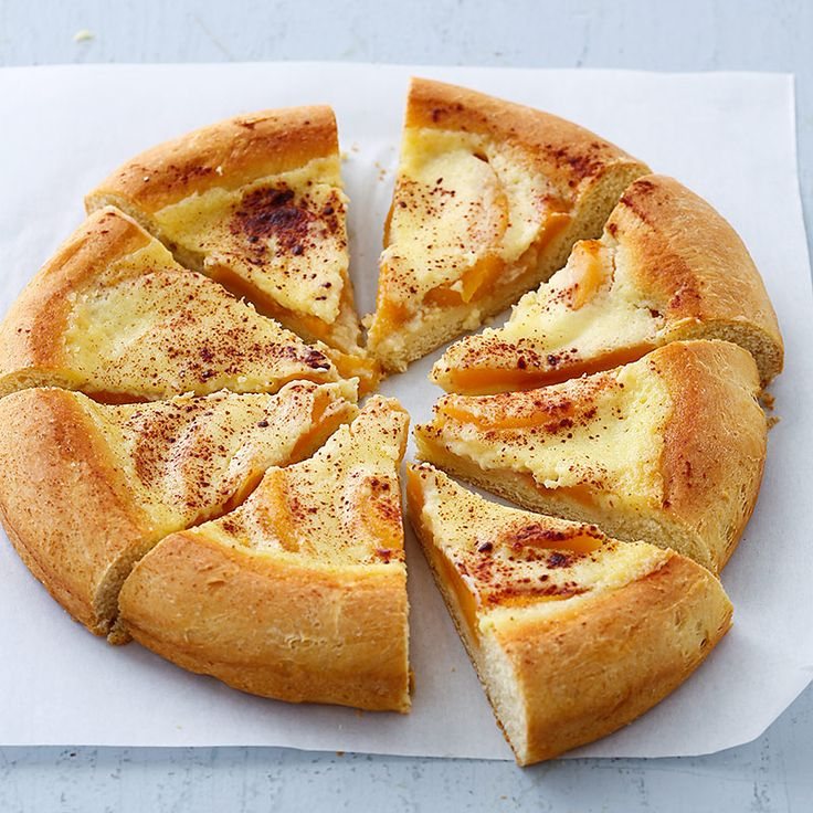 Nice Celebrate peaches and South Dakota with a recipe for Kuchen a coffee cake like bination of rich yeasted dough creamy custard and fresh fruit