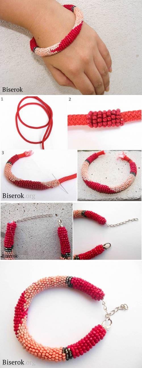 DIY Beads on a String Bracelet