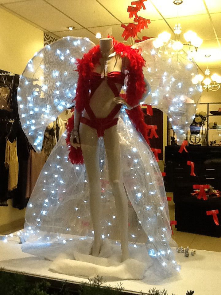 Christmas window display 2013 #red #lingerie #intimates dispaly