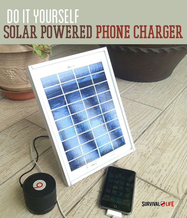 DIY Solar Powered Cellphone Charger | Cell phones are one of the modern conveniences we rely on the most, so don't be without one in a SHTF situation if you don't have to! #Survivallife