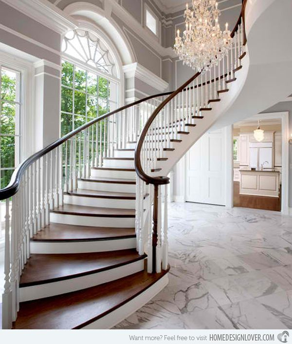 17 best images about residential home designs on pinterest for House plans with curved staircase