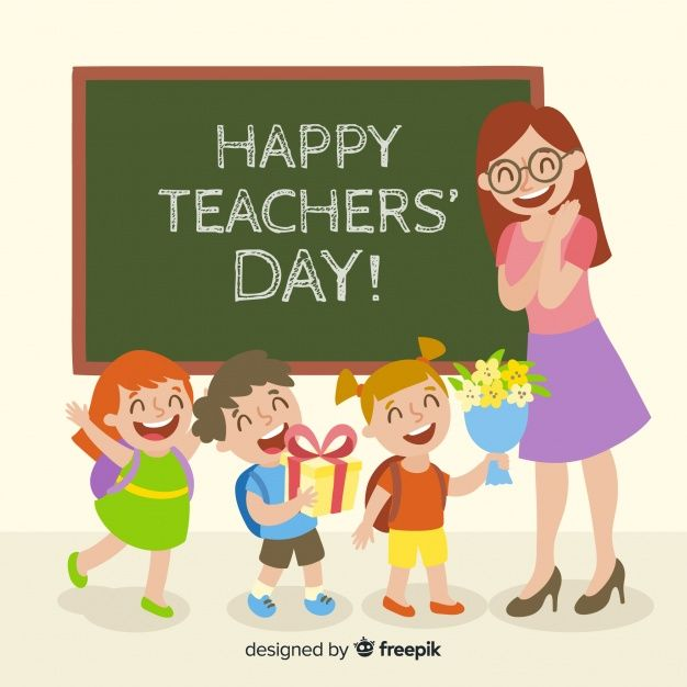 Download Colorful World Teachers Day Composition With Flat Design