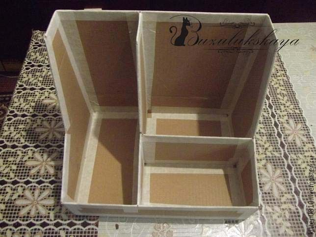 Делаем органайзер на рабочий стол в технике картонаж - Ярмарка Мастеров - ручная работа, handmade